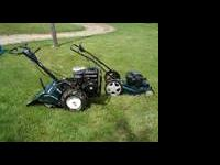 good solid little push mower very easy to push starts