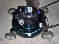 "I HAVE A BOLENS 21"" PUSH MOWER WITH 5.5 HP BRIGGS AND"