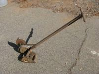 Push Mower Edger c. 1940's (maybe 30's) Works. Patented
