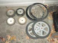 I have some push mower wheels, small wheels- $2, high