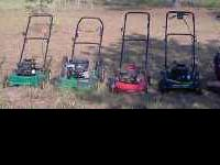PUSH MOWERS OF DIFFERENT BRANDS AND SIZES, PRICES RANGE