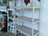 2 heavy duty PVC SHELVES..can be 5 high 4 high 3 high