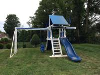 Mr. Fence PVC Swing set - Approximately 4 years of ages