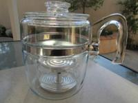 PYREX Flameware 9cup COFFEE POT Percolator 7759 B.  *