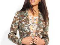 An allover camo print makes this QMack blazer a