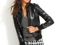 Faux leather makes a downtown-ready statement on