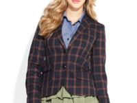 Go for preppy-chic with this QMack plaid blazer that's