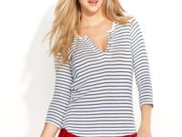 Stripes make this QMack top a cute pick for mixing and