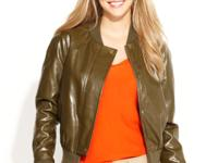 A hot fall layering piece, this QMack faux-leather