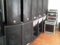 The GX3 outputs 300 watts per channel (600 watts RMS)