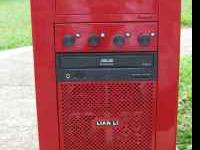 Custom Lian Li Computer Red, with Flames & Side Window