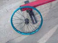 Salt 3/8 36h 20inch wheel blue /black some spray paint