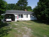 Nice two bedroom, one bath house on 3/4 acre
