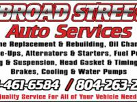 BROAD STREET AUTO SERVICES  TRANSMISSION REBUILDING
