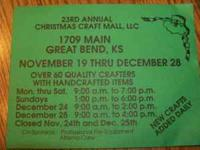 The 23rd annual Christmas Craft Mall in Great Bend