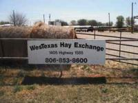 The solution to all your feed needs....WesTexas Hay