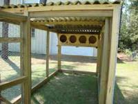 These are quality made treated wood Chicken Hutches.