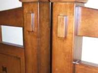 NEW CONDITION TWIN HEADBOARDS, SOLID WOOD. Two