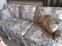 Matching Couch and Loveseat, Blue floral pattern.
