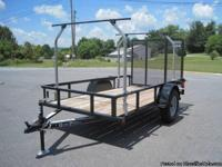 QUALITY 5X10 UTILITY TRAILER WITH MALONE KAYAK RACK PUT