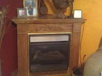 PROPANE corner stove heater OAK Cabinet and INSERT