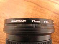 Quantaray 19-35 MM wide angle lens for Nikon Camera.