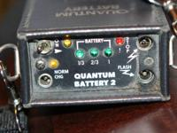 Quantum 2 battery with case. Charger cord is not