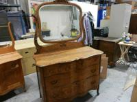 This is Antique Vintage Serpentine  Front Tiger Oak