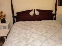 For sale queen size bed set includes mattress, box