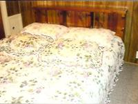 Queen Bed with bookcase headboard, frame, mattress and
