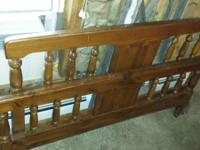 Queen headboard and footboard, solid $55.00 6077393044