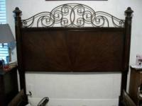 Very nice Queen size bed frame. Headboard is over 4ft