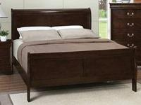 SAT -9 -1. Sleigh bed coffee surface all solid timber.