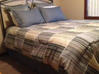 Complete queen bed including Mattress, foundation, bed