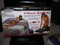 DELUXE DOUBLE QUEEN/FULL BLOW UP BED WITH MOTOR