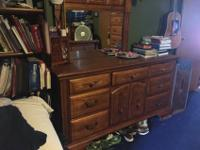 Great set. Includes sleigh bed with box springs and
