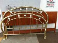 Queen Size bed set, includes Brass headboard, frame and
