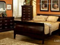 mahogany satin rubbed mahogany ,includes queen sleigh