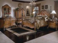 "BEAUTIFUL Michael Amini ""Eden"" queen bedroom set!"