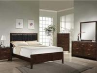 Brand new Queen Mocha Finish Low Profile Sleighbed,