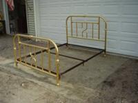 This is a queen size brass bed. Comes with head board,