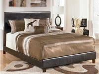 ** QUEEN DELUXE LEATHER UPHOLSTERED BEDS-- NEW **