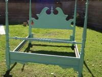 SHABBY CHIC/FRENCH PROVINCIAL QUEEN/FULL BED FRAME, SEA