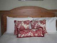 Real wood headboard (queen/full) with matching