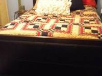 Beautiful modern look queen headboard, footboard, and