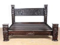 Intrinsically carved panel bed made in India. It is