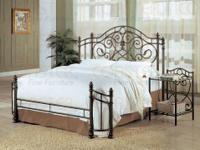 BEAUTIFUL IRON BED FROM THE AYNSLEY COLLECTION! COMES