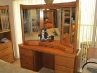 Solid wood Oak bedroom set for sale (does not include