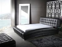 This particular leather bed is a queen size set and was