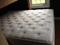 Queen mattress, box sping and frame